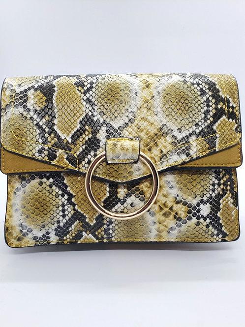 Cassie Snakeskin purse-green