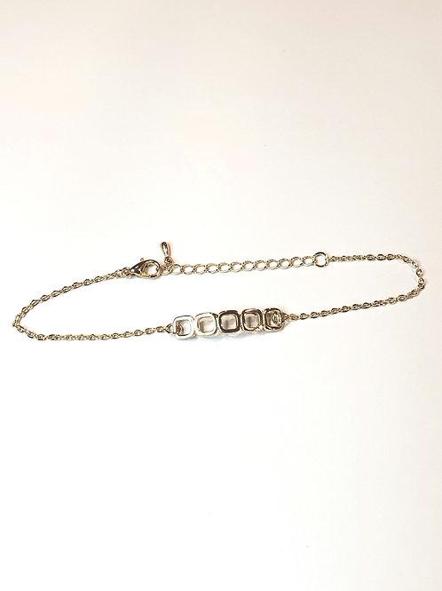 Squared up gold tennis bracelet