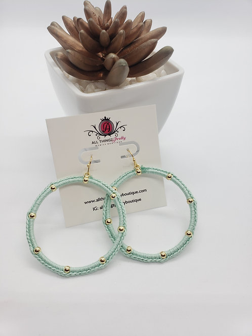 Camille ribbon & gold hoops