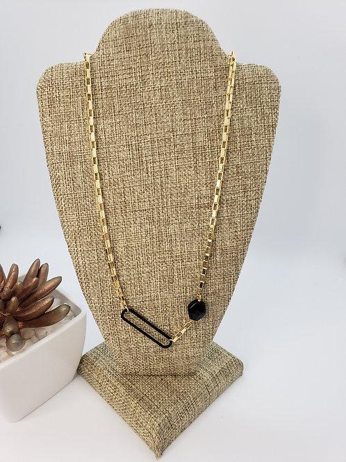 Black Onyx Charm Necklace