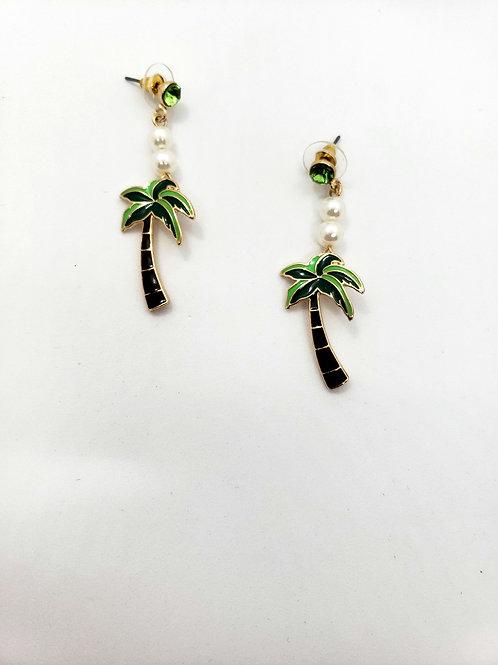 Palms & pearls earrings