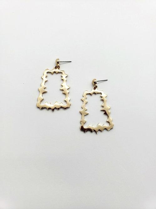 Girl gang square earrings