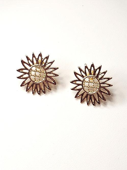 Sunflower gold studs