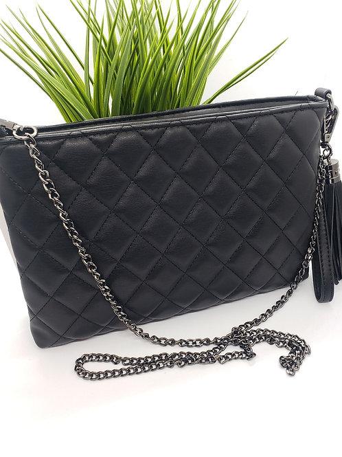 Miranda Quilted bag- coal black