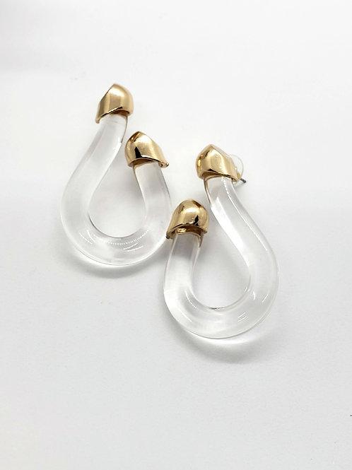 Clear calypso statement earrings