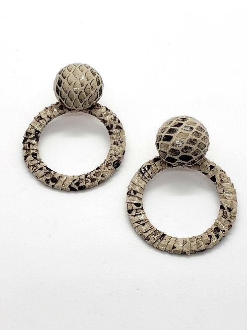 Snakeskin button hoops