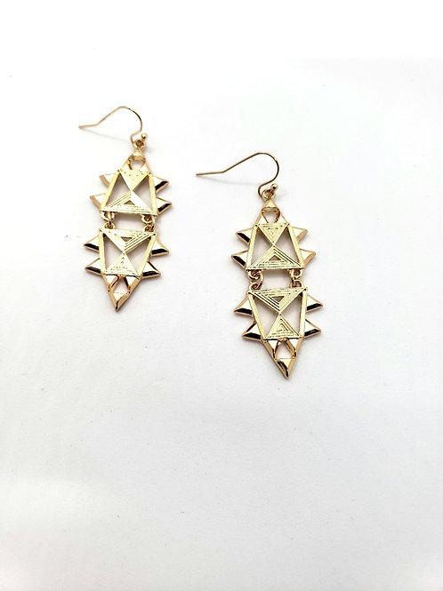 Tahari geo statement earrings