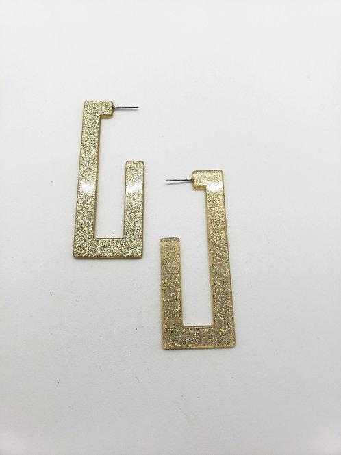 Retro glam geometric earrings