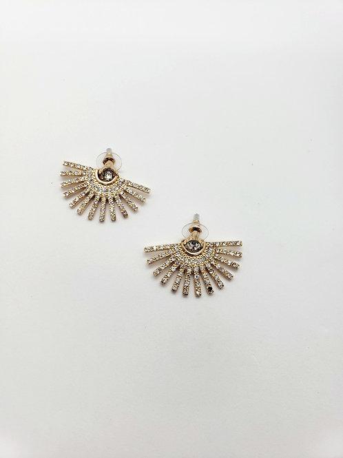 Rachel gold fan earrings