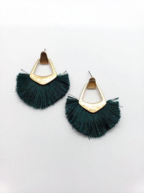 Fendi Green Fringe earrings