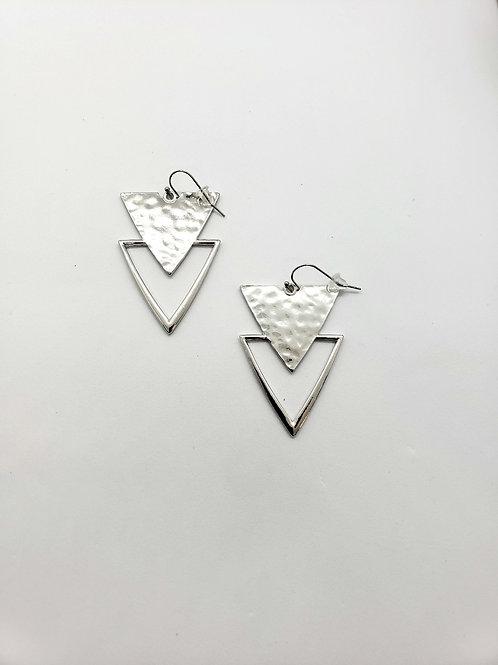 Neveya triangle dangle earrings