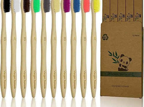 Bamboo  toothbrushes- Set of 2