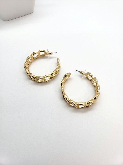 Amber Link hoops
