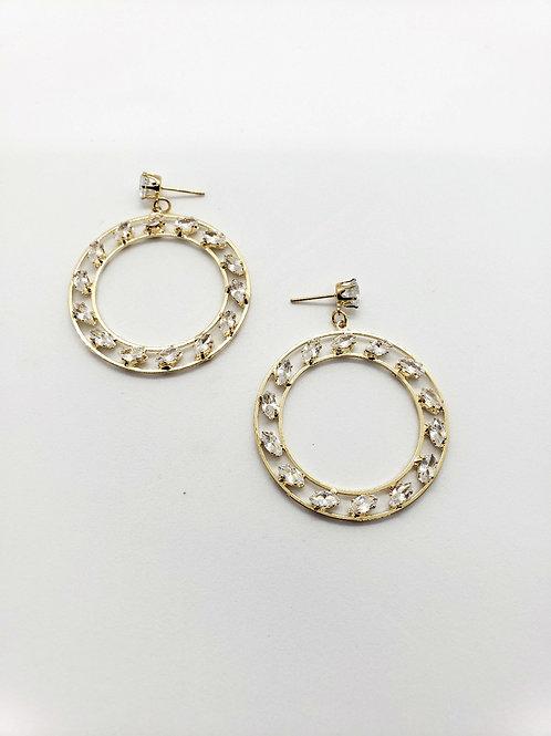 Celestial hoops- gold