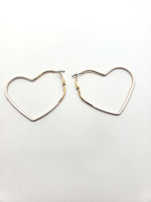 Gilded love heart earrings