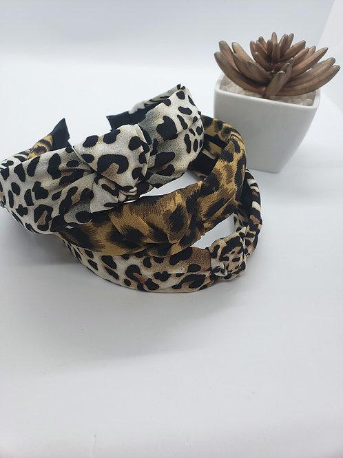 Leopard print headbands