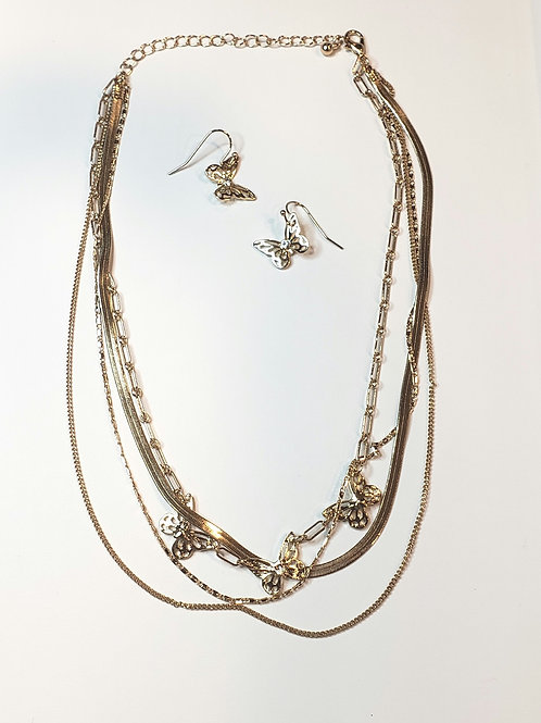 Butterfly dreams statement necklace