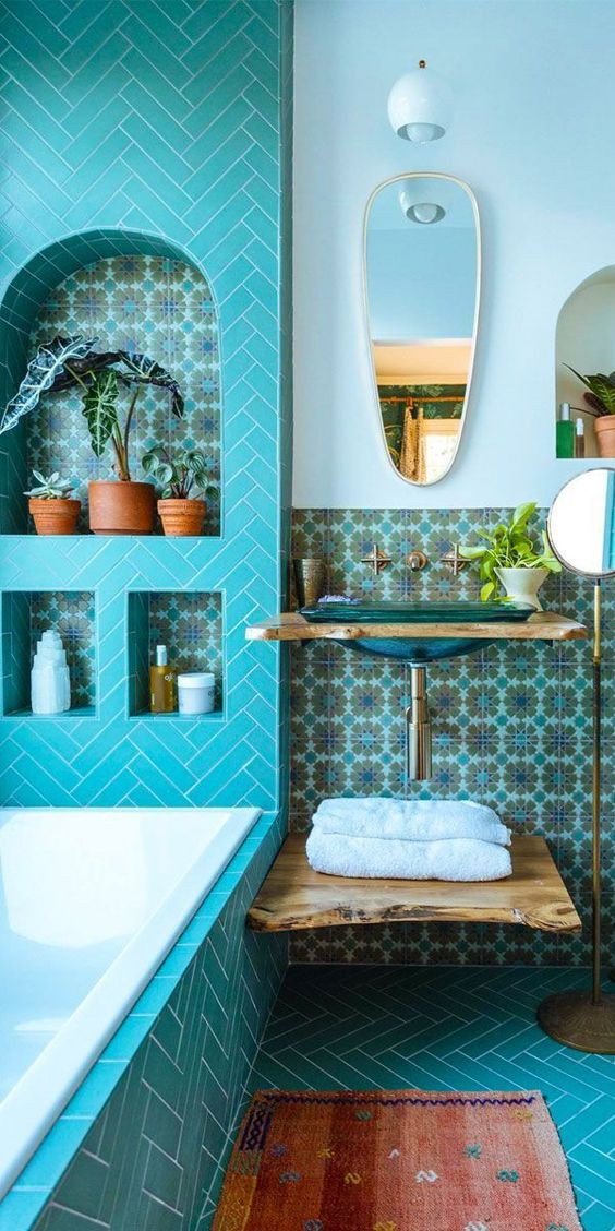 10 Bathroom Interiors To Inspire You 60s 70s 80s Inspired