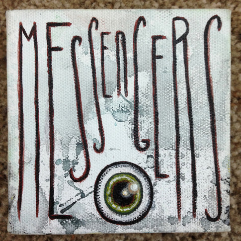 Messengers. A found object sculpture series.