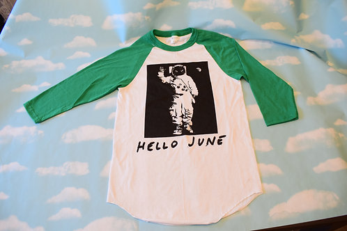 "Green/white ""Interstella"" baseball t-shirt"