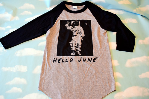 "Grey/Black ""Interstella"" baseball t-shirt"