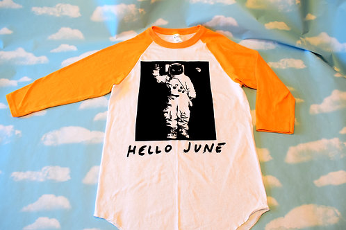 "Yellow/white ""Interstella"" baseball t-shirt"