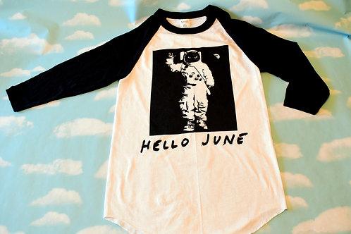 "Black/white ""Interstella"" baseball t-shirt"