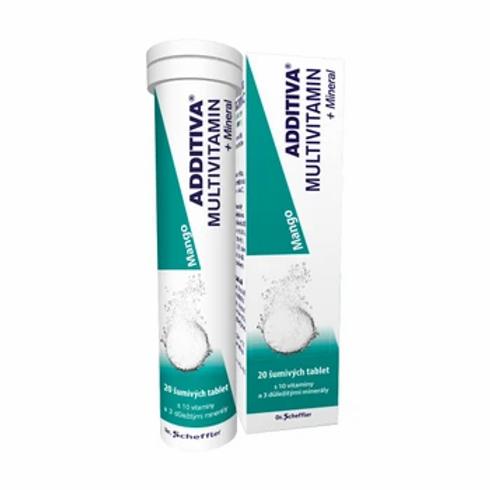 Additiva Multivitamin + Mineral MANGO 20 šumivých tablet