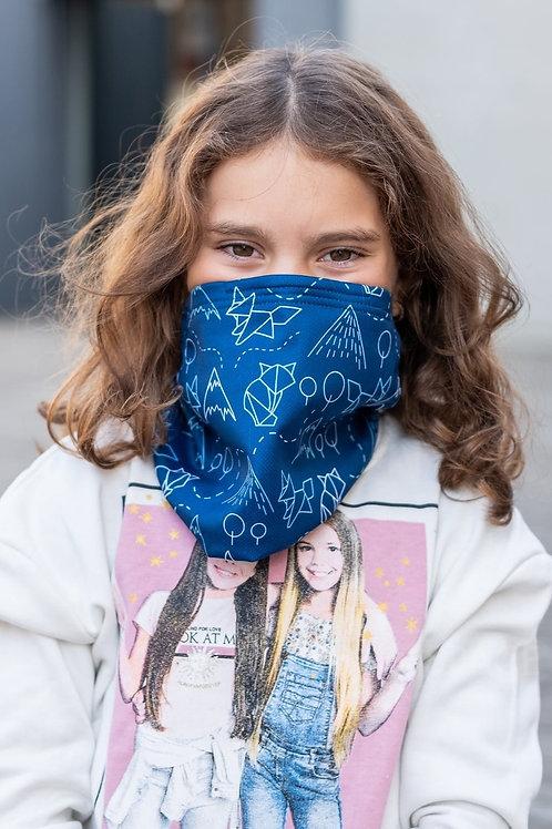 Dětský Antivirový šátek nanoSPACE - modrý