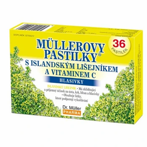 Müllerovy pastilky® s islandským lišejníkem a vitaminem C - BEZ CUKRU