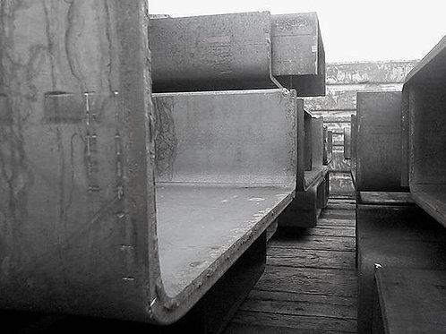 Швеллер гнутый 160x60x4 металлический сталь 3пс/сп ГОСТ 8278-83 длиной 12 метров
