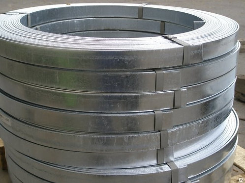 Полоса 4х25 стальная оцинкованная сталь 3пс/сп (Ст1-3пс) ГОСТ 9.307-89 в бухтах