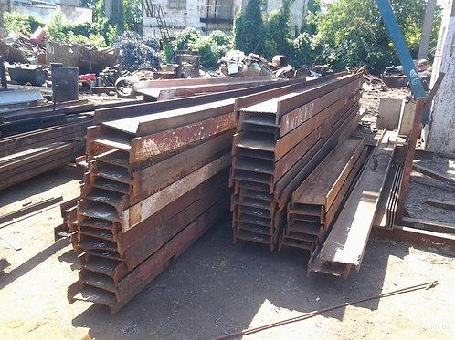 Швеллер б/у 24У бывший в употреблении, лежалый сталь 3пс длиной от 4 до 9 метров