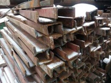 Швеллер б/у 10П бывший в употреблении, лежалый сталь 3пс длиной от 4 до 9 метров