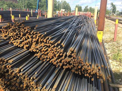 Квадрат 25х25 стальной горячекатанный сталь 3пс/сп ГОСТ 2591-2006 в прутках