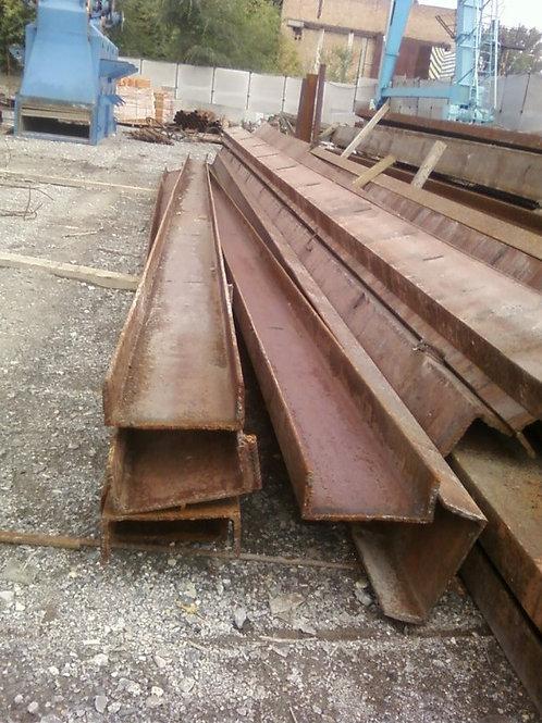 Швеллер б/у 40П бывший в употреблении, лежалый сталь 3пс длиной от 4 до 9 метров