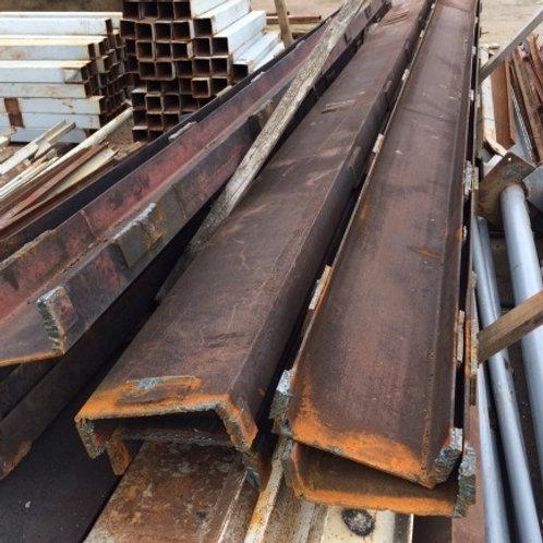 Швеллер б/у 27П бывший в употреблении, лежалый сталь 3пс длиной от 4 до 9 метров