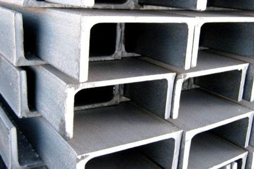 Швеллер 8П горячекатаный металлический ст. 3пс/сп ГОСТ 8240-97 длиной 6 метров