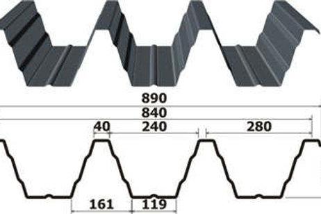 Профнастил 1х840 Н153 оцинкованный длиной от 0,5 до 12 метров, Профлист Н-153