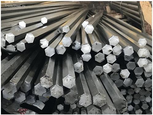 Шестигранник 55 стальной горячекатанный сталь 20 ГОСТ 2879-88 длиной 6 метров