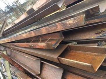 Швеллер б/у 24П бывший в употреблении, лежалый сталь 3пс длиной от 4 до 9 метров