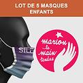 Marion la main tendue mask of art enfant