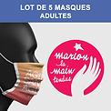Marion la main tendue mask of art adulte