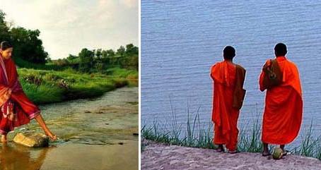 Twee monikken en een vrouw