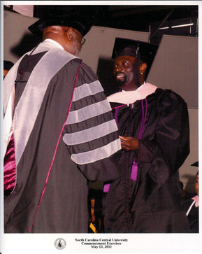 Graduation at NCCU for my Masters in Jazz Studies 2011!