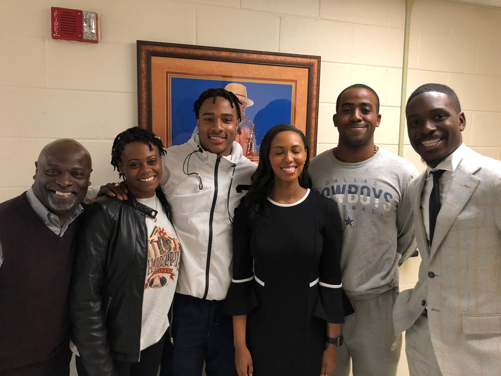 My students in from of my office at VSU!