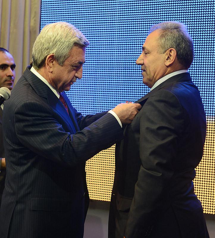 40 лет. Торжественный вечер, вручение наград Президентом Армении, погосян