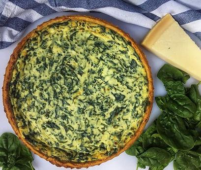 Ricotta & Spinach quiche