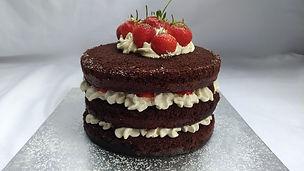 Strawberry & chocolate cake