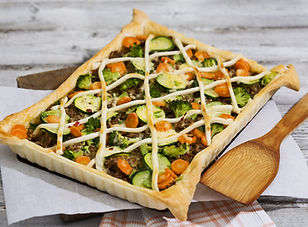 Vegetable & Beef Tart delivery